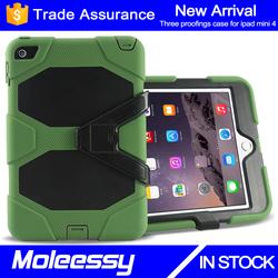Drop resistance unique dustproof professional hybrid armor case for ipad mini 4