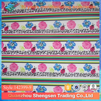 decorative printed poly lycra fabric for swimwear
