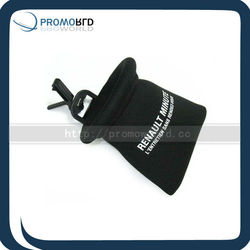 Cheap Mobile Phone Pouch With Drawstring Open
