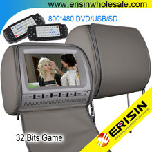 Erisin ES998D 9 inch Car Headrest Pillow DVD Player with TV and FM Tuner Games
