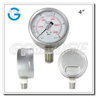 Stainless steel wika type liquid filled air pressure gauge