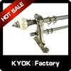KYOK Classical Style Adjustable Curtain Rod Finals, Crystal/Diamond Curtain Pole Ends, Home Decor Curtain on Hot Sale