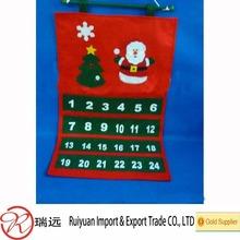 Popular Felt Christmas advent calendar from manufacturer RUI YUAN
