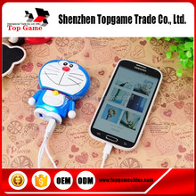 Cartoon Doraemon 2in1 portrable mobile power bank for iPhone 4/5