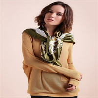 Best popular 100% polyester shining satin for scarves