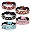 Cross rivet studded leather dog collar wholesale china stud dog collars