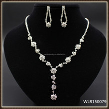 2015 Delicate Design rhinestone necklace set for wedding birdal party