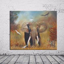 Museum Quality Unique Wall Decor Hand Painting Majestic Elephant Oil Painting On Canvas