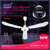 Double ball bearings electronics cooling fan 56 inch industrial ceiling fan with SASO HgF8056-3M(S)