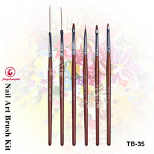 5 pieces nail art pen polish brush for manicure