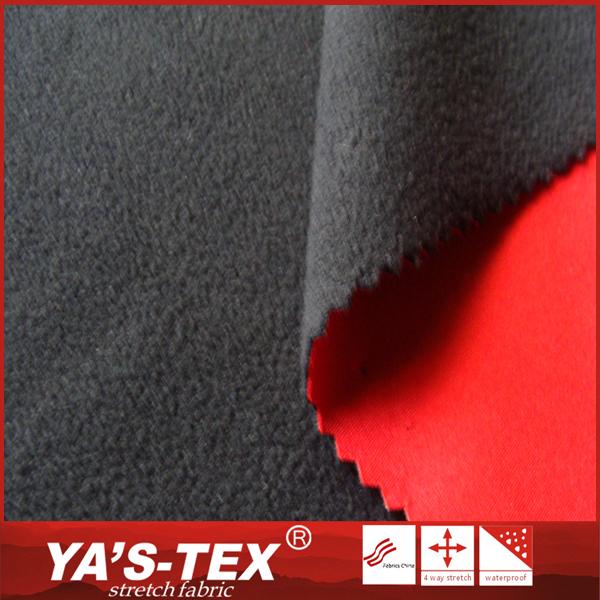 통기성 방수 따뜻한 북극 양털 100% 폴리 에스터 복합 겨울 자켓 softshell 직물
