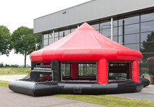 circle inflatable football stadium, inflatable football field, inflatable soccer pitch