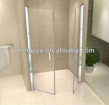 Emily clear or forst tempered glass shower door double sliding door shower screen double open glass shower door custom