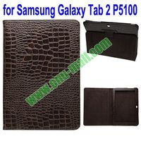 Crocodile Texture Leather Cover for Samsung Galaxy Tab 2 10.1 P5100 with Holder