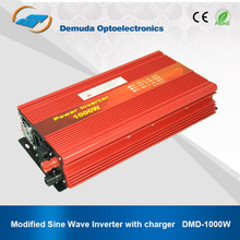 1000W 12V/24V To 220V dc to ac power inverter with charger for home appliances