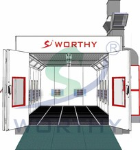 Europe Luxury Type W-9300A Infrared furniture spray booth paint booth