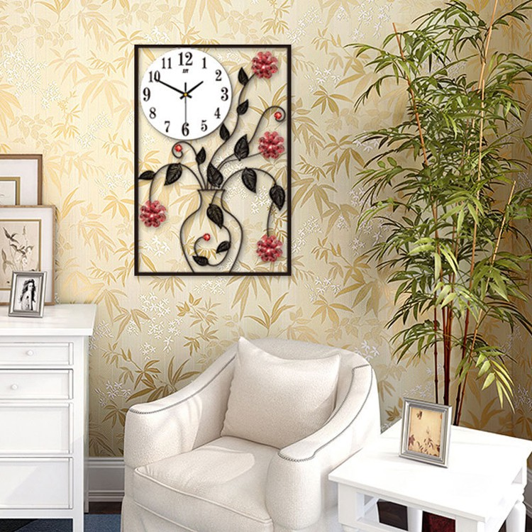 Stunning horloge murale pas cher vase en forme moderne - Grande horloge murale blanche ...