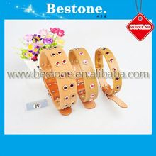 2014 Fashionable Pure Cowhide Pet Collars/pet products