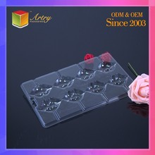 Brand Name Food Grade Clamshell PP Clear Chocolate Blister Tray