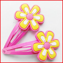 3D hairclips/2D hairpins/PVC hair charms/rubber hair accessories