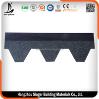 Hexagon type asphalt shingle Green color for Latvia
