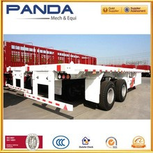 "NEW model 20"" twin axle flatbed container semi trailer with bogie suspension"
