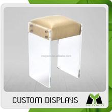 Design hot selling blue modern acrylic promotional bar stool/chair