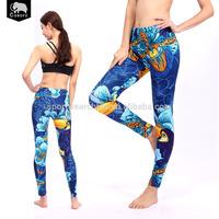 Reasonable price Red digital printing Soft Long style women leggings and tops