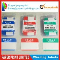 Custom cartoon label/sticker fancy adhesive label sticker adhesive pvc caution/warning label sticker on carton packaging