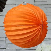 Fontes do partido de Halloween decorações de papel de papel dia das bruxas acordeão lanternas laranja 10 cm 20 cm 30 cm