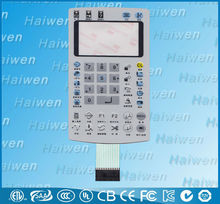 flexible membrane switch with poly dome with 3m back adhesive