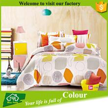 cotton european style grid bed sheet set