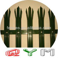 Color Powder Coated Palisade Fence Low Price