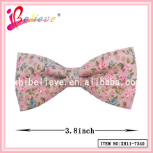 3.8 Inch mini bow tie for decoration, cotton flower bow tie size ribbon bow tie clips wholesale (XH11-7340)