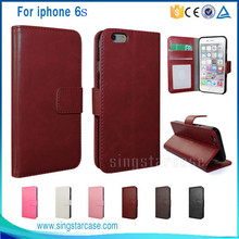 New Products 2016 Luxury Retro Wallet Leather Cell Phone Case For iPhone 6s Plus, For iPhone 6s Case