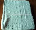 50DB68 tela suéter tejido cable parches diferentes diseños en una sábana sábana con borde resorte