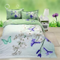 High Quality Good Price Fashion Green 3d bed cover set
