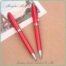 2015 hot selling OEM promotional copper metallic red ring pens