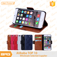 For iPhone 6 shell, Wallet Leather Cover Shell for iPhone 6