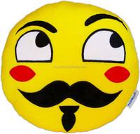Hot Sale Soft plush emoji pillow stuffed toys, qq emoji plush pillow