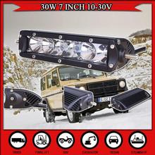 7 INCH 30W LED Light Bar For Offroad Light Truck Tractor SUV ATV Boat LED Driving Work Headlight Fog Lamp CAR DRL External Light