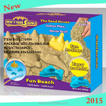 2015 New Magic! 3D FUN SPACE SAND (500 GRAMS SAND +5 SAND MOLD)