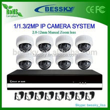 8ch complete full hd 1080p IP camera cctv system design,cctv camera system for small shops