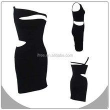 sexy fancy bandage dress black hot wholesale dress one piece online shopping 2015