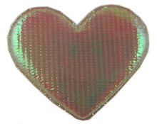 wedding design heart patch with 2.5cm