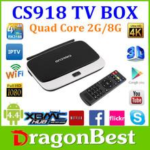 Google quad core Android mini pc with Remote control 1.8GHZ RAM 2GB ROM 8GB RK3188 CS918 TV BOX