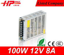 Led switching power ac to dc constant voltage single output 100w 8.3 ampere 12v ac to dc variable power supply