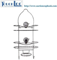3 Tier Hanging or Suction Collection for Kitchen or toilet shelf