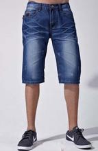 de lujo de mezclilla pantalones vaqueros pantalones cortos para hombres