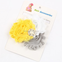 European and American Hot Sew combination drill chiffon flower baby hair band